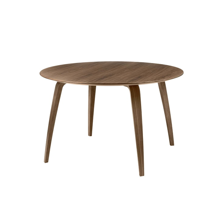 Dining Table 120 x 72 cm by Gubi in Walnut