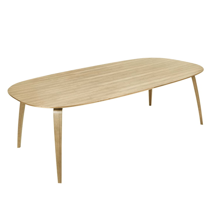 Elliptical Dining Table 120 x 230 cm by Gubi in Oak