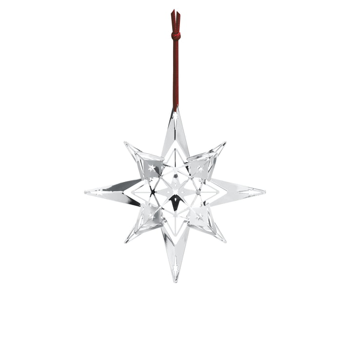 Christmas Star Ornament H 13 cm by Rosendahl in silver