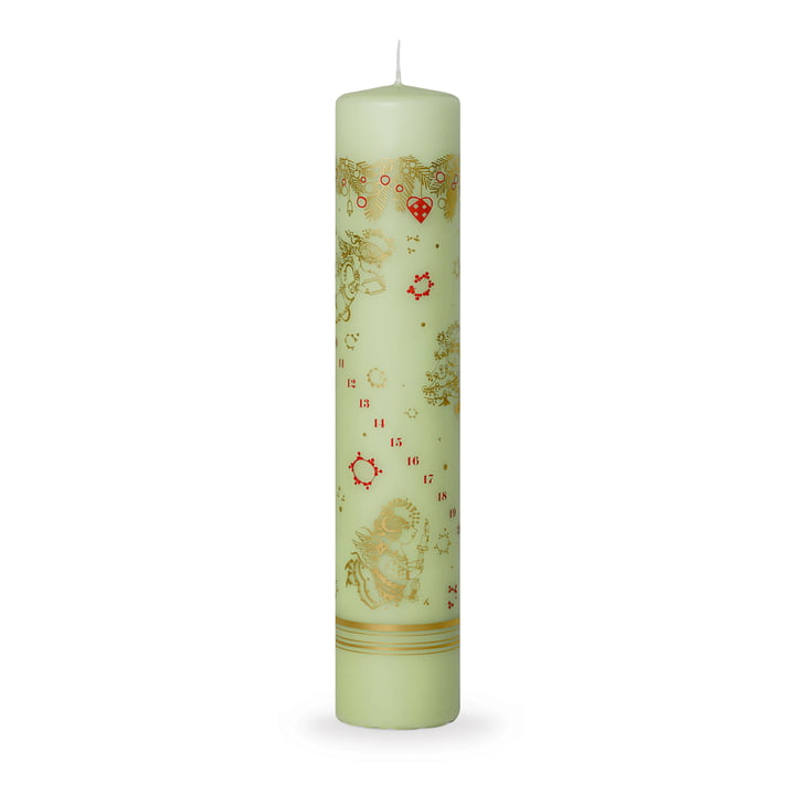 Advent Calendar Candle 2017 H 25 cm by Bjørn Wiinblad in Green