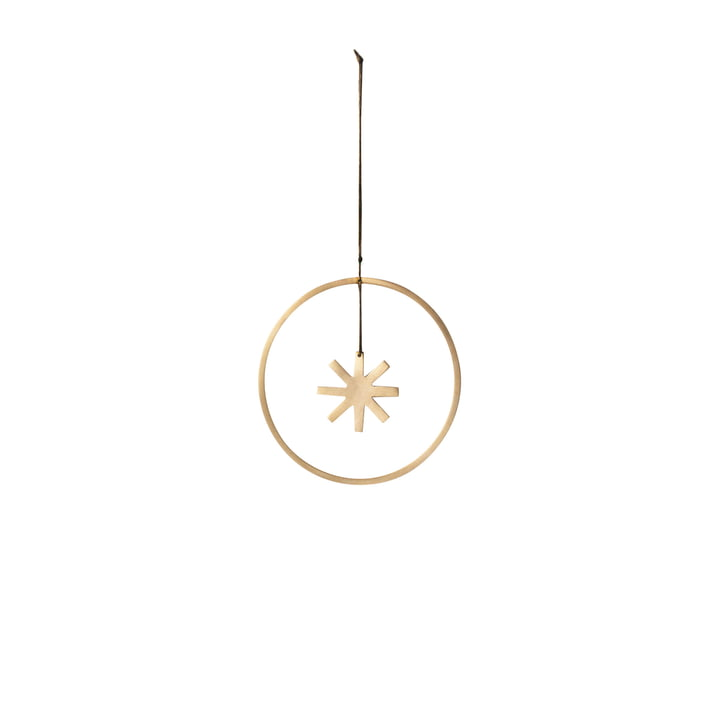 Winterland Brass Star Ornament Ø 9 cm by ferm Living