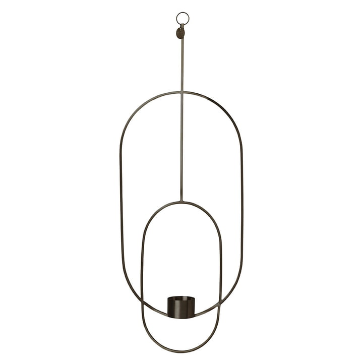 Oval Hanging Tealight Holder by Ferm Living in Black