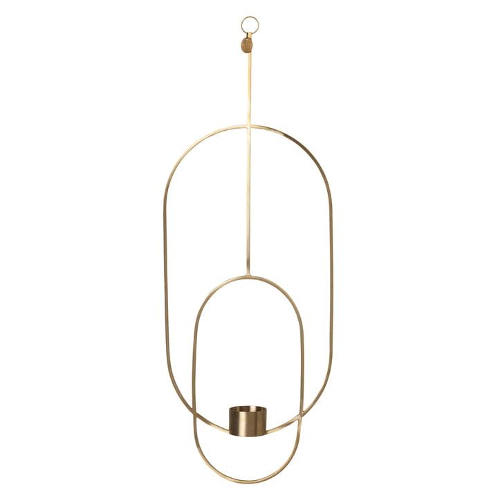 Oval Tealight Holder by Ferm Living in Brass