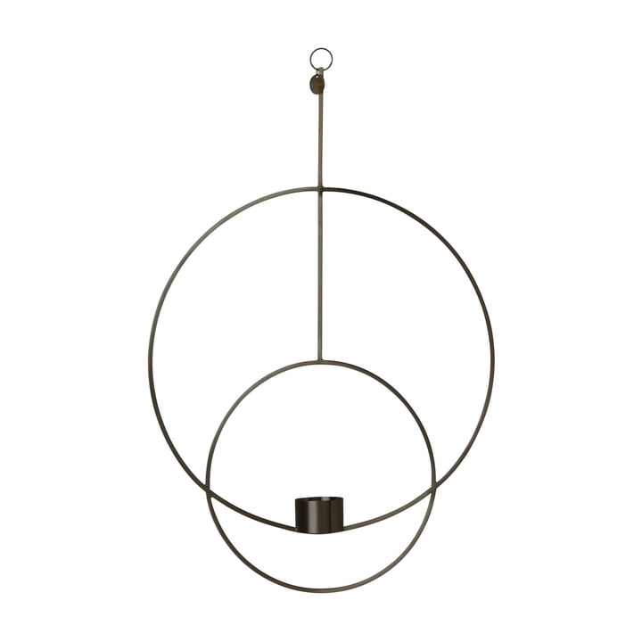Round Hanging Tealight Holder by Ferm Living in Black