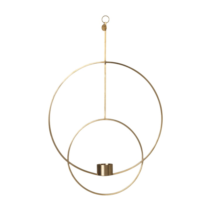 Round Hanging Tealight Holder by Ferm Living in Brass
