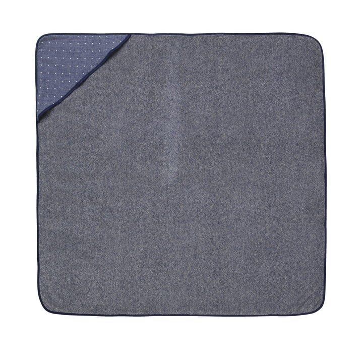 Sento Hooded Towel by ferm Living in Blue