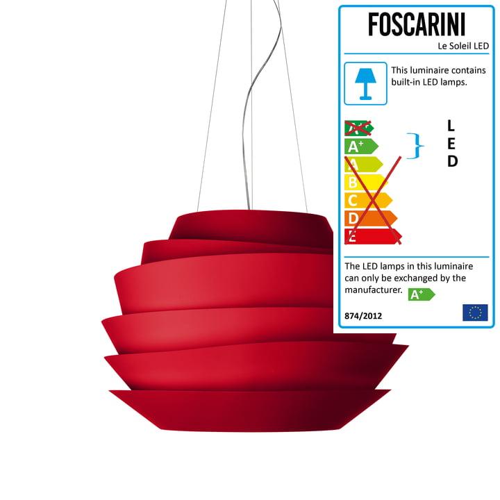 Foscarini - Le Soleil Pendant Lamp LED, red