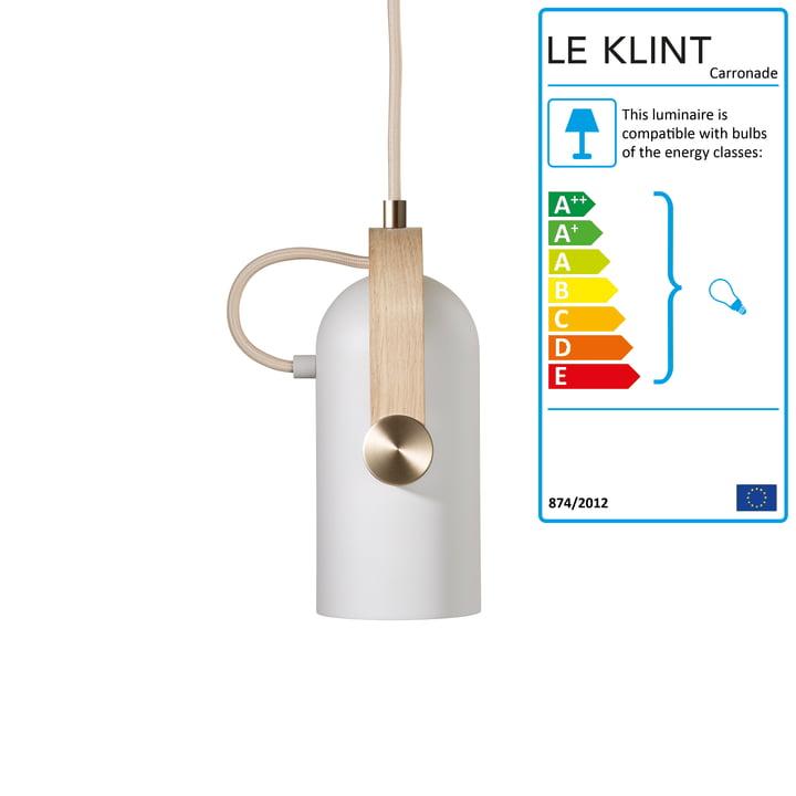 Carronade 160 Pendant Lamp Nordic Special by Le Klint in Soaped Oak / Brass