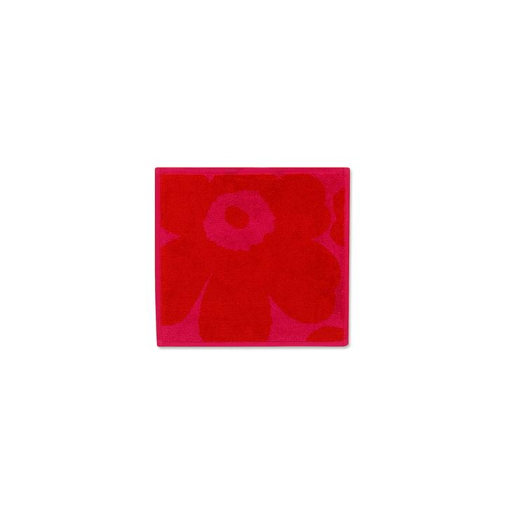 Unikko Solid Mini Towel 25 x 25 cm by Marimekko in Red