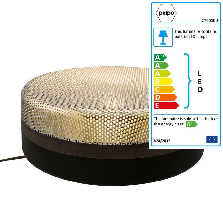 Pulpo - Big Steel Drop Lamp, jet black / chrome lid