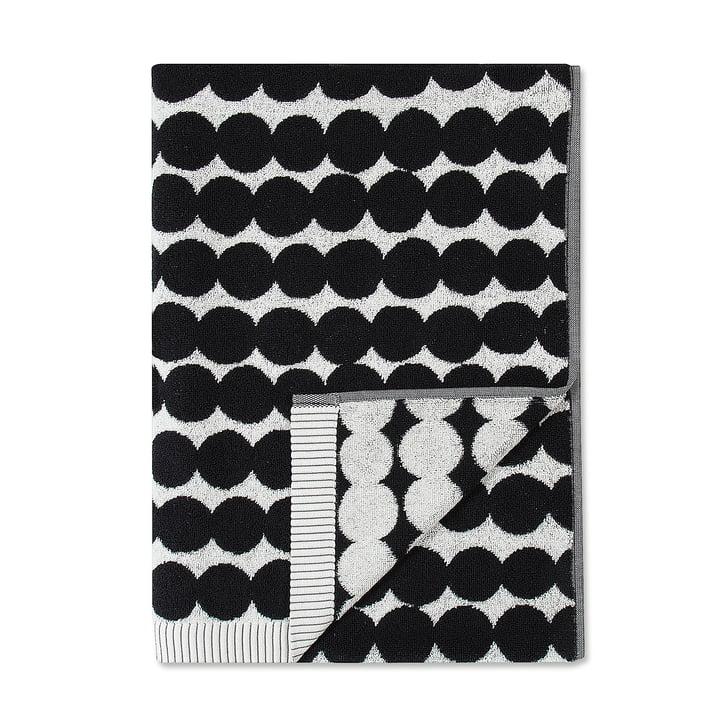 Räsymatto Bath Towel 70 x 150 cm by Marimekko in Black