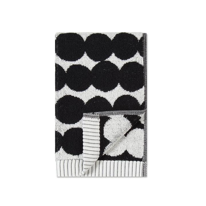 Räsymatto Guest towel 30 x 50 cm from Marimekko in white / black