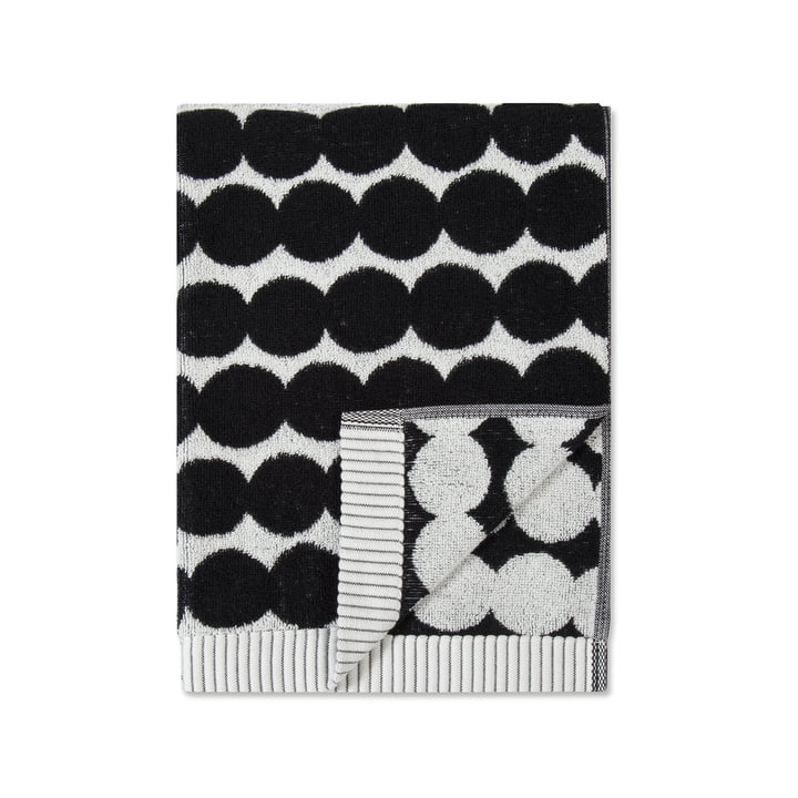Räsymatto Towel 50 x 70 cm from Marimekko in white / black