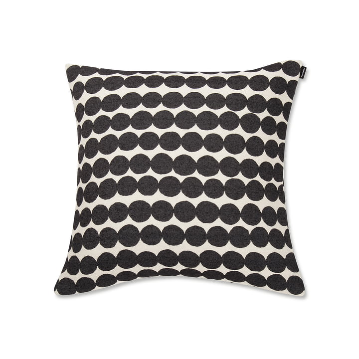 Räsymatto Cushion Cover 50 x 50 cm by Marimekko in Gray / White