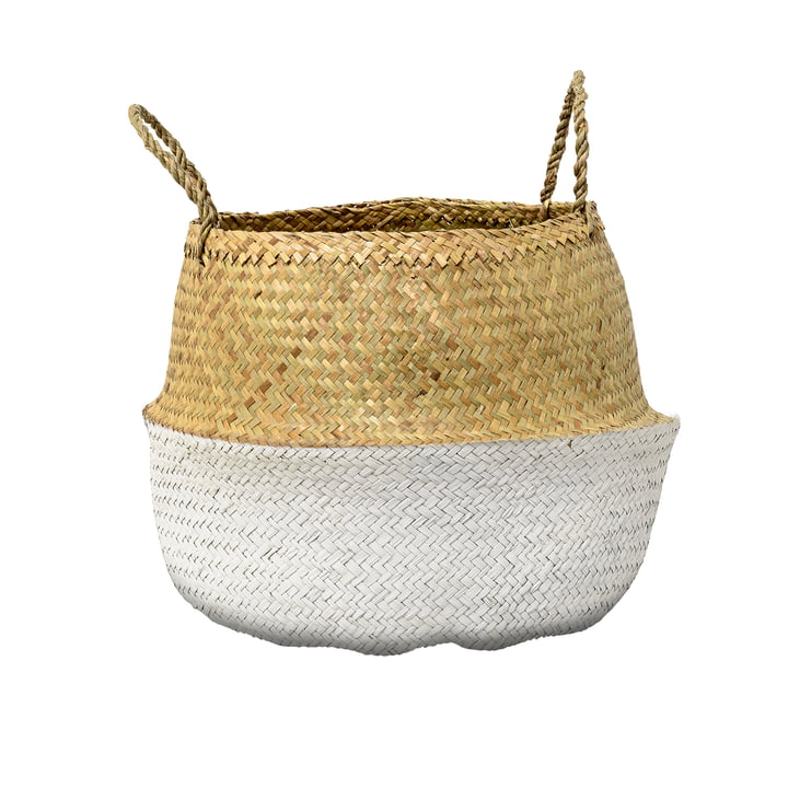 Bloomingville - Seagrass Basket, white