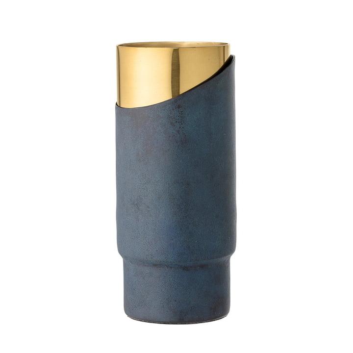 Bloomingville - Metal Vase, H 23 cm, blue