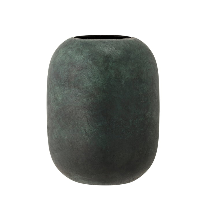 The Bloomingville - Metal Vase, H 18 cm in green