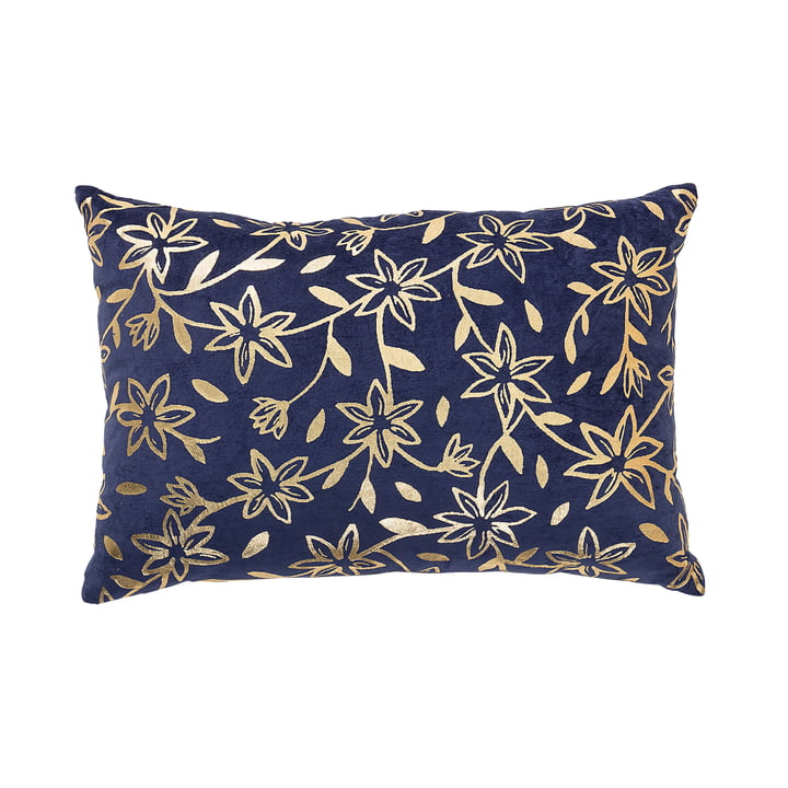 Cushions with Gold Print by Bloomingville in Blue