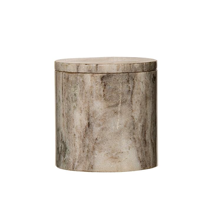 Storage Jar with Marble Lid Ø 12 x H 12 cm by Bloomingville in Sand Marble