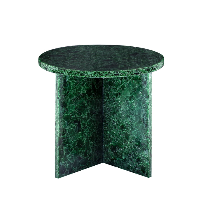 Font Round Table Small, H 46 x Ø 44 cm by Pulpo in Green