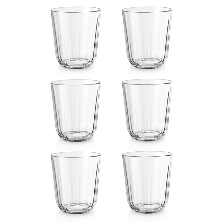 Set of 6 Drinking Glasses, 0.27 l in a Gift Package by Eva Solo