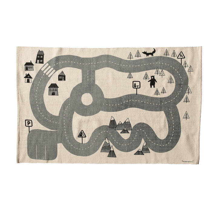 Roads Playmat by Bloomingville in Beige / Grey