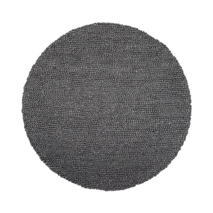 Wool Rug Ø 110 by Bloomingville in Grey