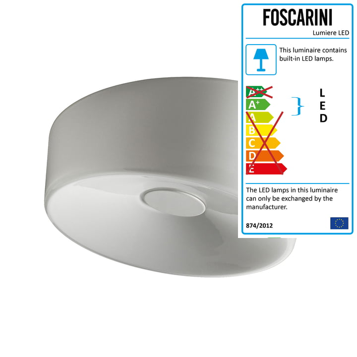 Foscarini - Lumiere XXL Wall and Ceiling Lamp LED, white
