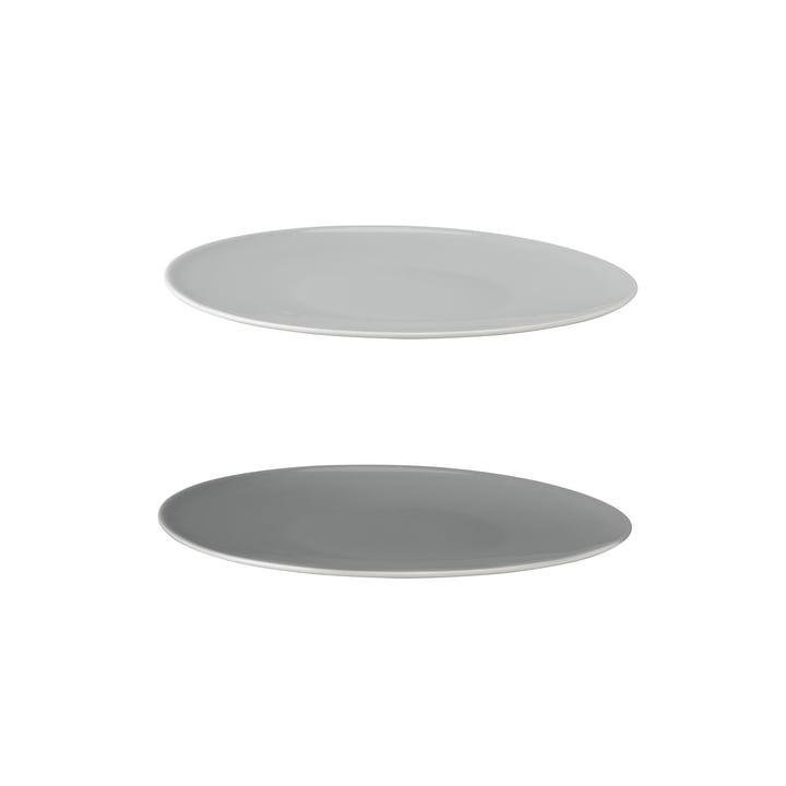 Stelton - Emma Plate Ø 22 cm, grey (set of 2)