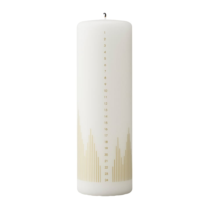 Calendar Candle, Christmas Tree by Stelton in White / Gold