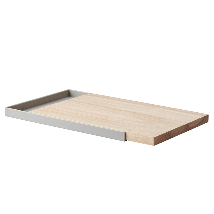 Frame Chopping Board with Tray by Rig Tig by Stelton in Light Grey