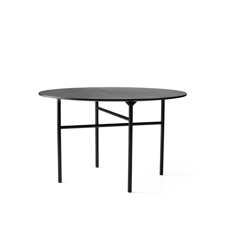 Snaregade Table Ø 120 cm from Menu in black veneer