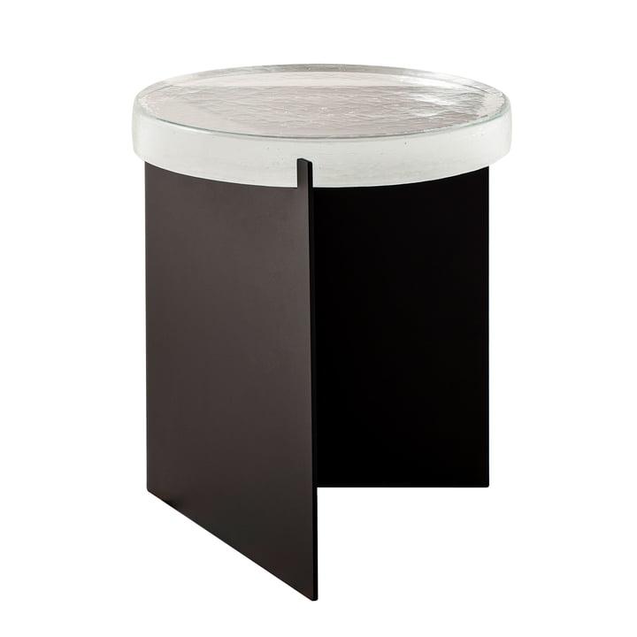 Pulpo - Alwa One Table, H Ø 44 x 38 cm, Transparent / Black