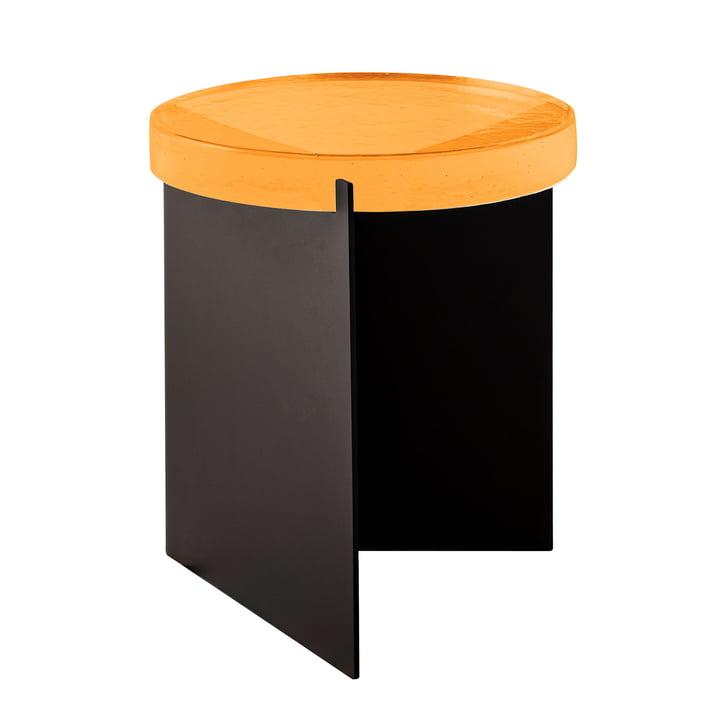 Pulpo - Alwa One Table Big, H Ø 44 x 38 cm, Amber / Black