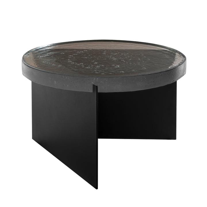 The Pulpo - Alwa One Table, H Ø 35 x 56 cm in Smoky Grey / Black