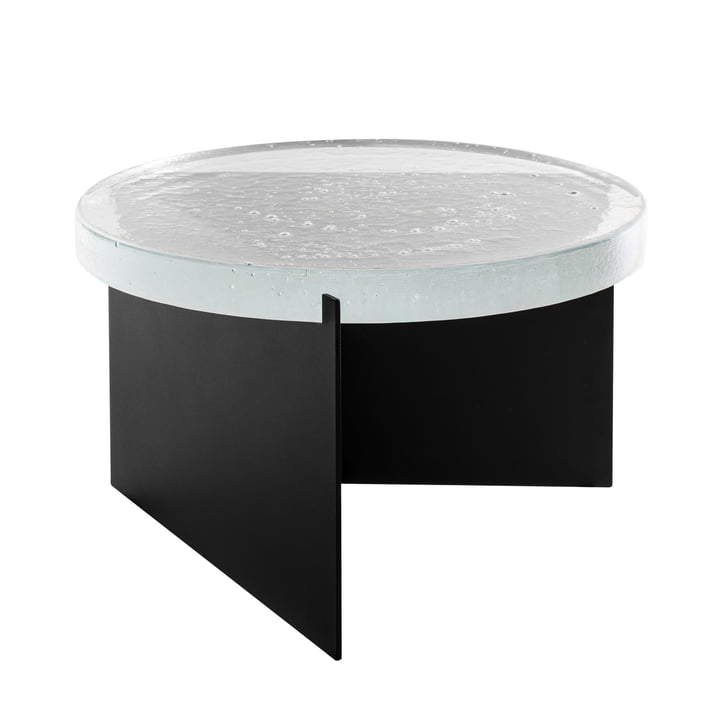 The Pulpo - Alwa Two Table, H Ø 35 x 56 cm, Transparent / Black