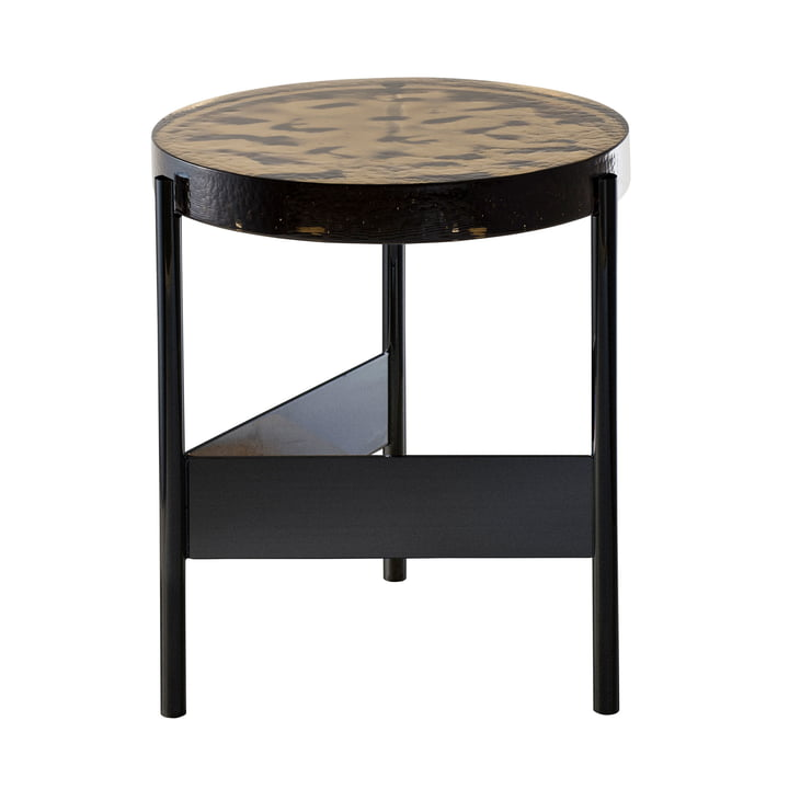 The Pulpo - Alwa Two Table, H Ø 44 x 38 cm in Smoky Grey / Black