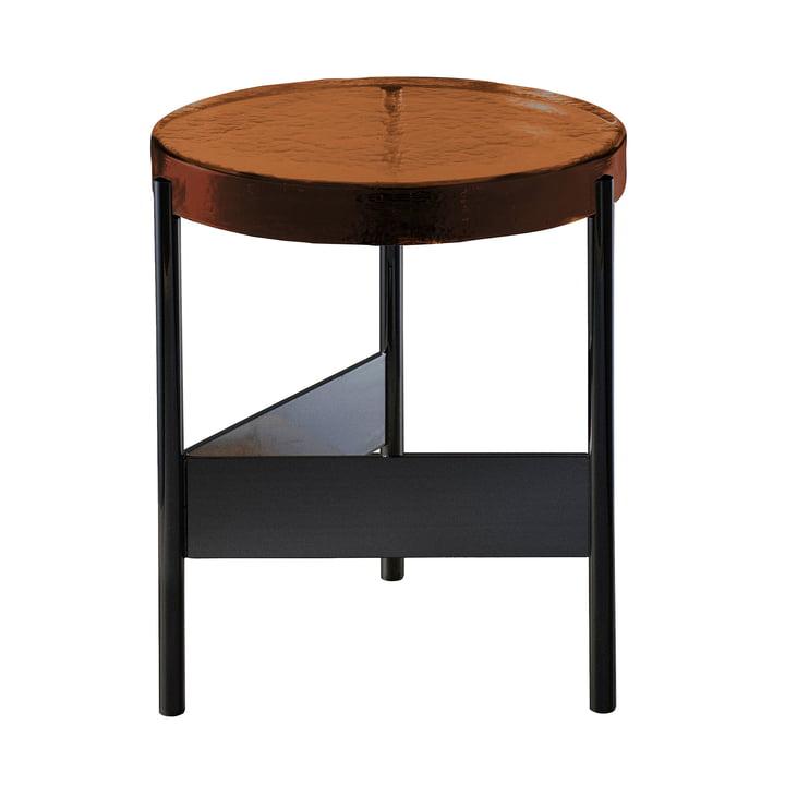 Pulpo - Alwa Two Table Big, H Ø 44 x 38 cm, Amber / Black