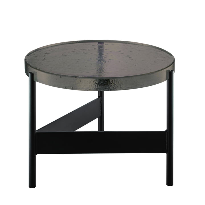 The Pulpo - Alwa Two Table, H Ø 35 x 56 cm in Smoky Grey / Black