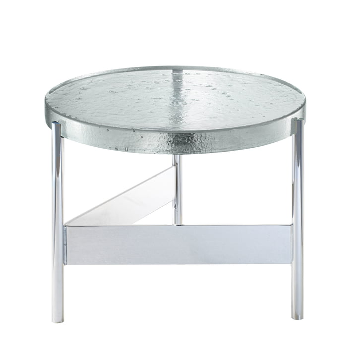 Pulpo - Alwa Two Table, H Ø 35 x 56 cm, Transparent / Silver