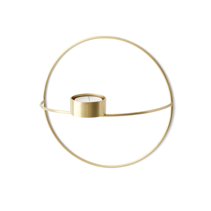Menu - Pov Circle Tealight Holder, S in Brass