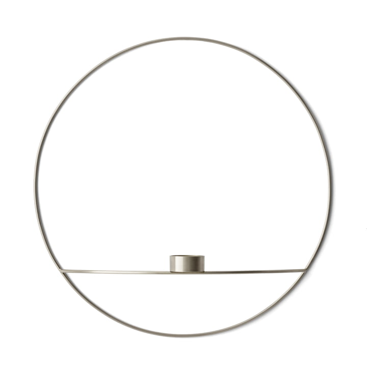 The Menu - Pov Circle Tealight Holder, L in Silver