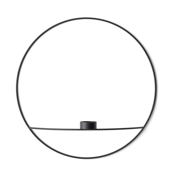The Menu - Pov Circle Tealight Holder, L in Black