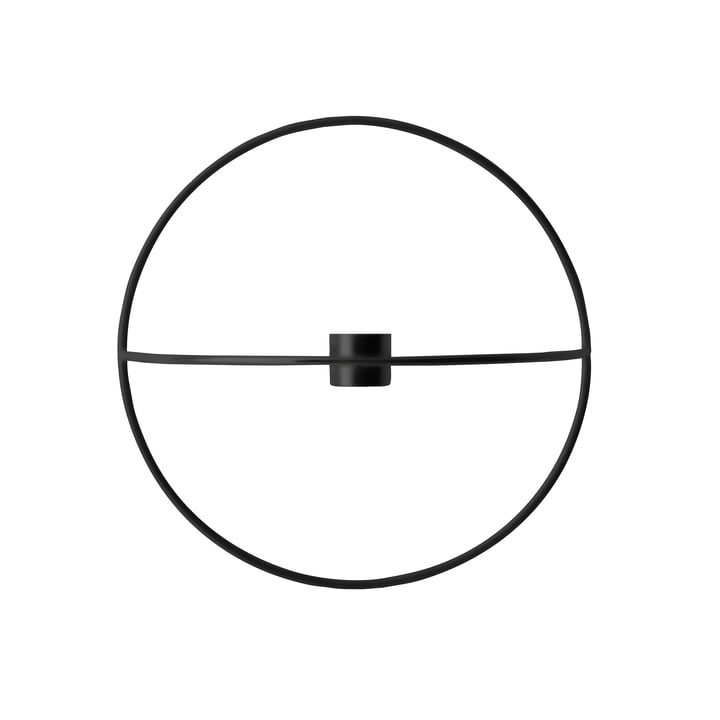 Menu - Pov Circle Candleholder, S in Black