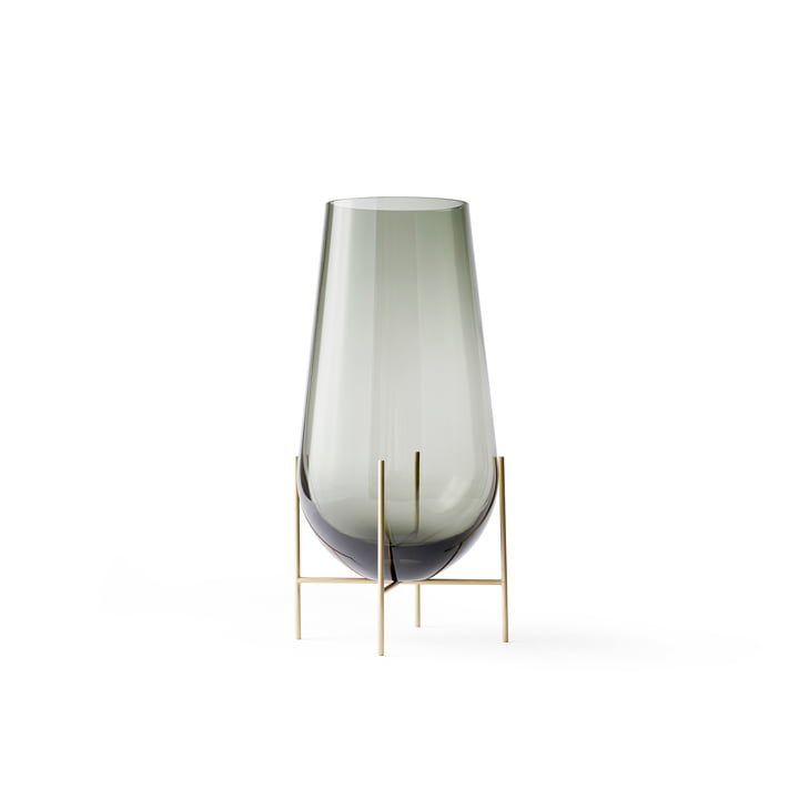 Menu - Échasse Vase S in Smoke / Brass