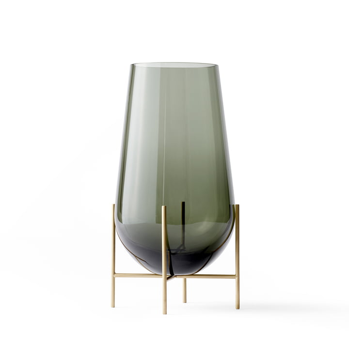 Échasse Vase M from Menu in Smoke / Brass