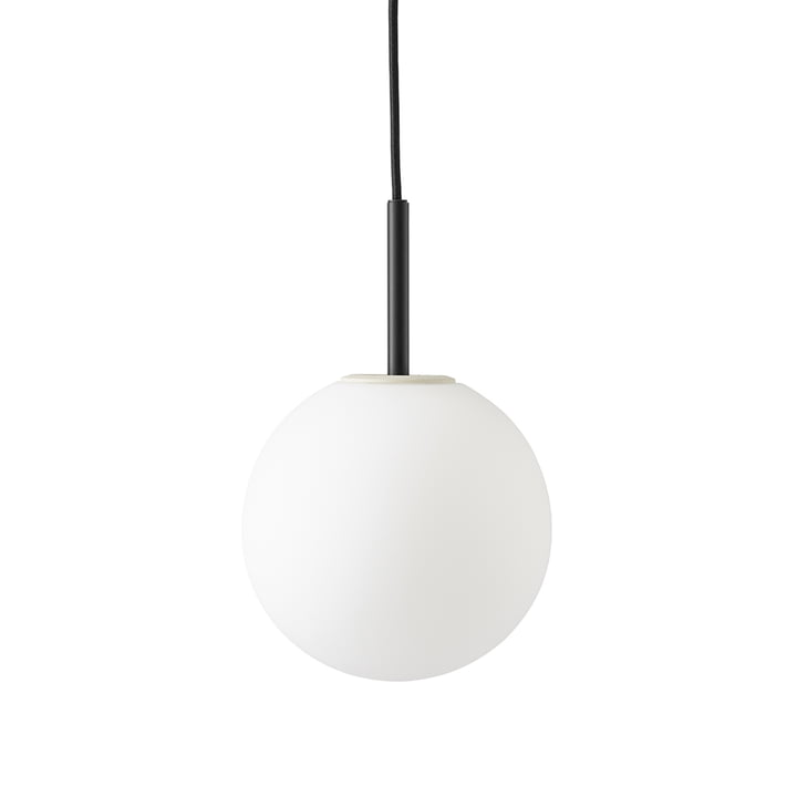 TR pendant luminaire from Menu in black / matt opal light source