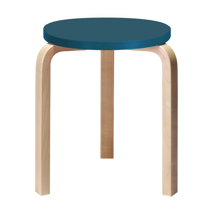 60 Hocker, Connox Special Edition, azure blue (RAL 5009) by Artek