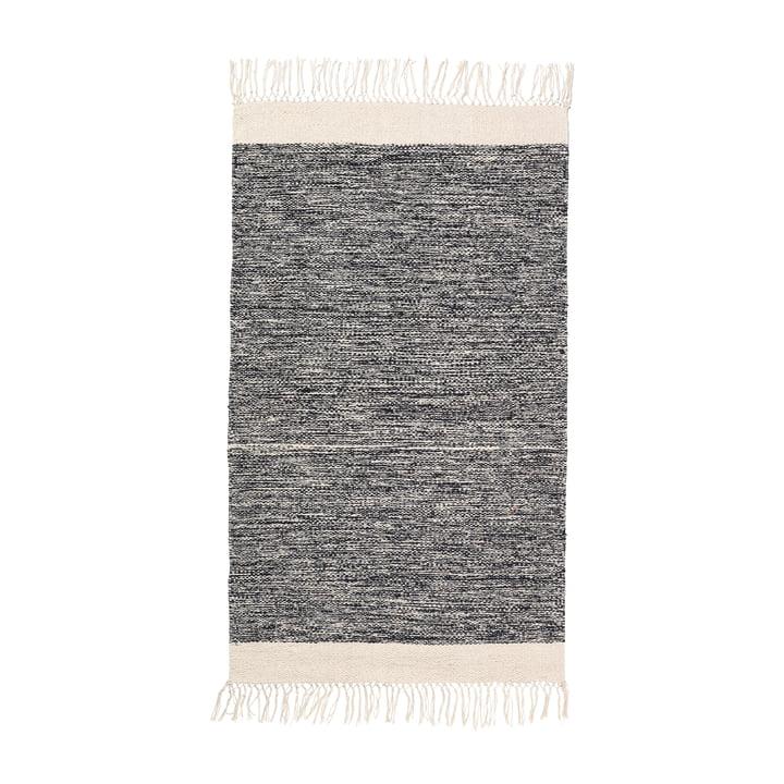 Melange Bath mat 60 x 100 cm by ferm Living in black