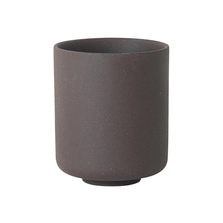 Sekki Cup, Large by ferm Living in Charcoal